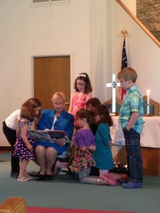 We invite children to participate in a Children's Moment every week during worship